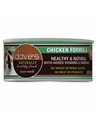 Daves Naturally Healthy Grain Free Canned Cat Food Chicken 5.5oz