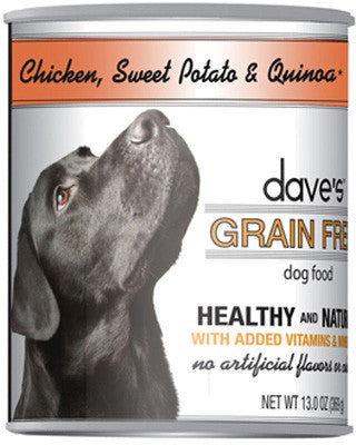 Daves Grain Free™ Canned Dog Food Chicken, Sweet Potato & Quinoa -13oz-