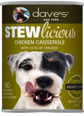 Daves Stewlicious Canned Dog Food Chicken Casserole -13oz-