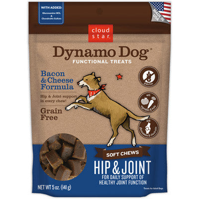 Dynamo Dog Grain Free Functional Soft Chews Hip & Joint Various Flavors 5oz