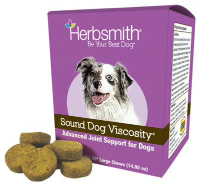 Herbsmith, Sound Dog Viscosity Large, 60 Chews