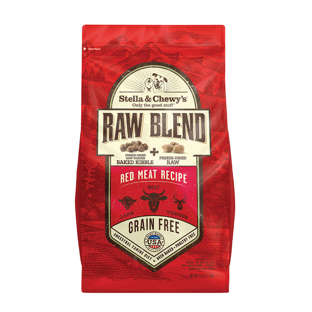 Stella & Chewy's Red Meat Raw Blend Kibble Dog Food-Various Sizes