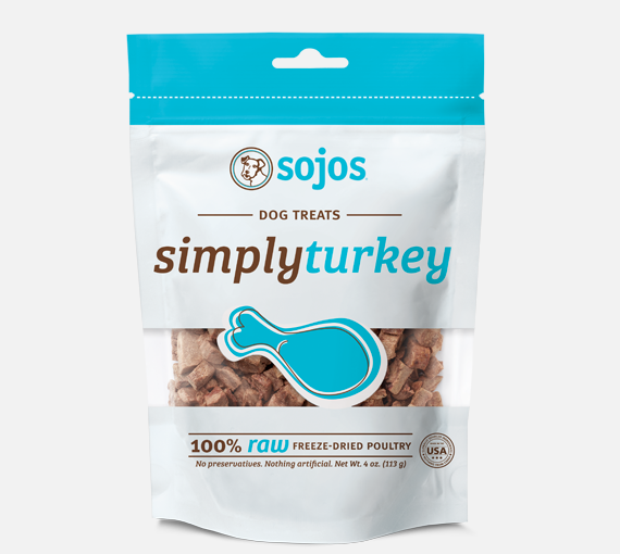 Sojos Simply Freeze-Dried Dog Treats 4 oz  (Various Flavors)