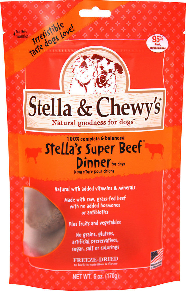 Stella & Chewy's Grain Free Freeze-Dried Patties Stellas Super Beef