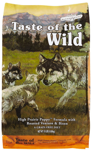 Taste of the Wild Grain Free Dry Dog Food High Prairie Puppy® Formula with Roasted Bison & Roasted Venison