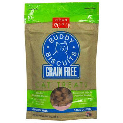 Cloud Star Grain Free Chicken Soft Buddy Biscuit Cat Treats (3oz)