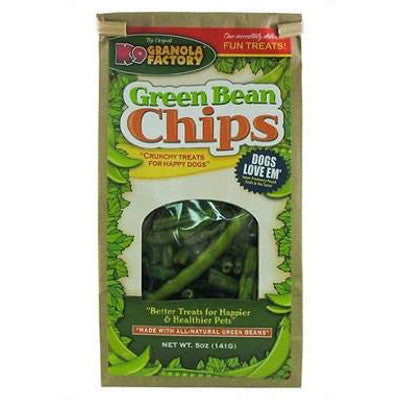 K9 Granola Factory Grain Free Healthy Snacks Green Bean Chips (5oz)