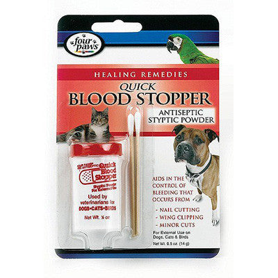 Four Paws Antiseptic Quick Blood Stopper Styptic Powder