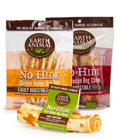 Earth Animal No Hide Chews Various Sizes & Flavors