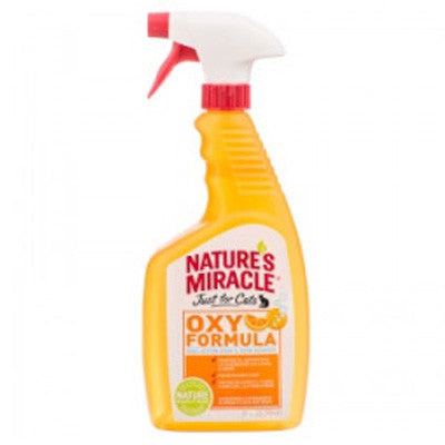 Nature's Miracle Just For Cats Stain and Odor Remover Spray, Oxy Orange Scent (24oz)