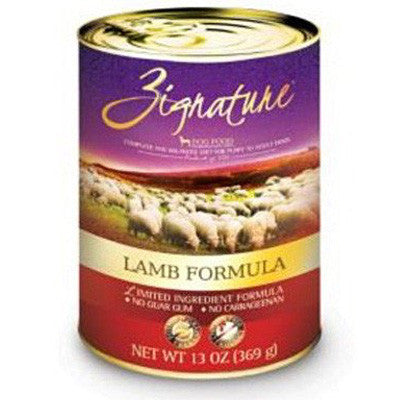 Zignature Grain Free Canned Dog Food Lamb -13oz-
