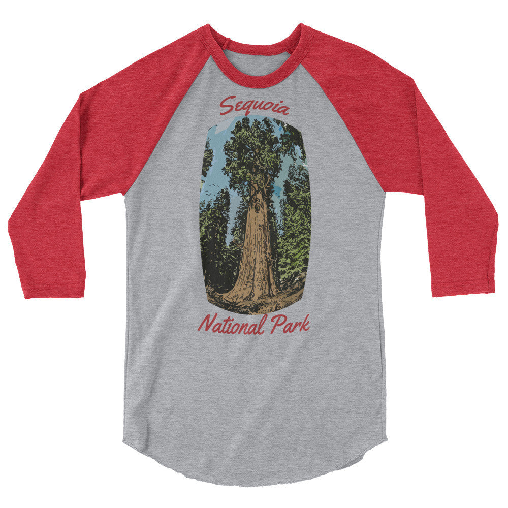 Sequoia National Park 3/4 Sleeve Raglan Shirt (more colors available)