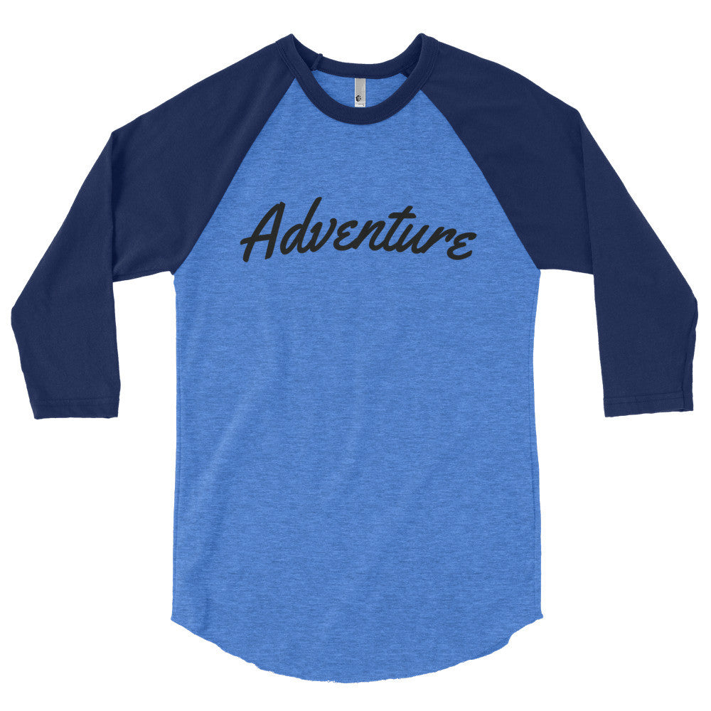 Adventure Logo 3/4 Sleeve Raglan Shirt (more colors available)