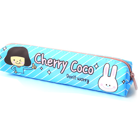 Cherry Coco Soft Pouch - Blue - OyatsuCafe