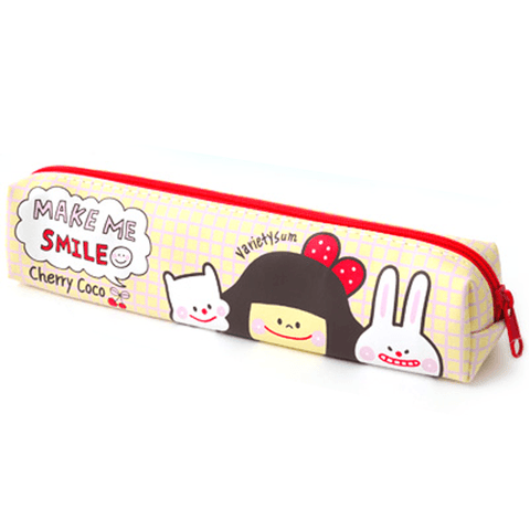 Cherry Coco Soft Pouch - White - OyatsuCafe
