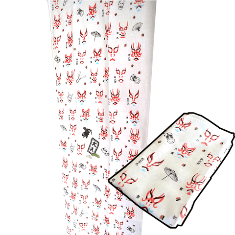 Hand Towel / Wall Scroll - Kabuki