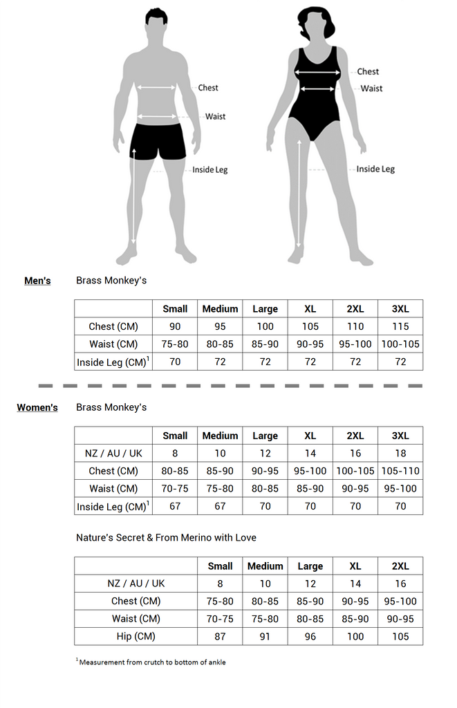 Smart Merino Sizing Guide