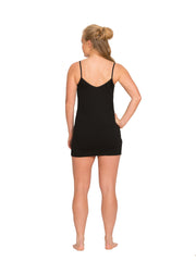 Black Merino Slip Women's