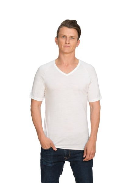 Merino V Neck Short Sleeve Men's