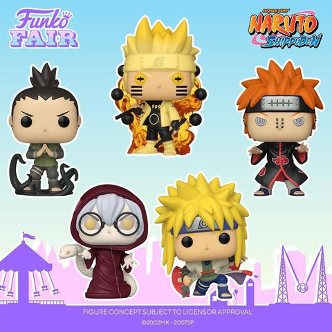 Funko Pop! Animation: Naruto Shippuden Set of 5