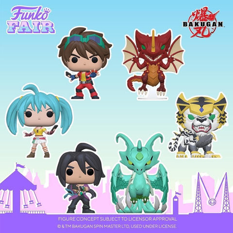 Funko Pop! Animation: Bakugan Set of 6