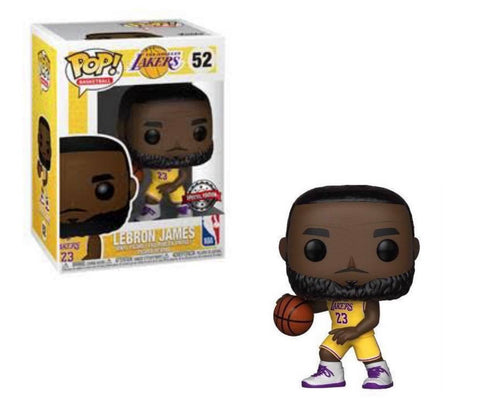 Funko Pop! NBA: Lakers - Lebron James (Yellow Jersey) Special Edition