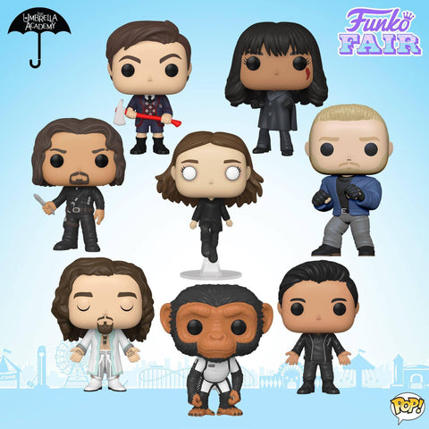 Funko Pop! TV: Umbrella Academy Set of 8
