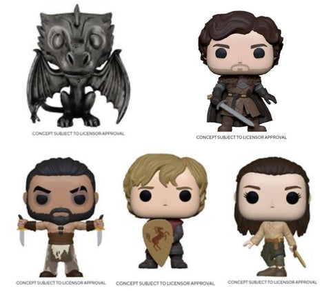Funko Pop! TV: Game Of Thrones Set of 5