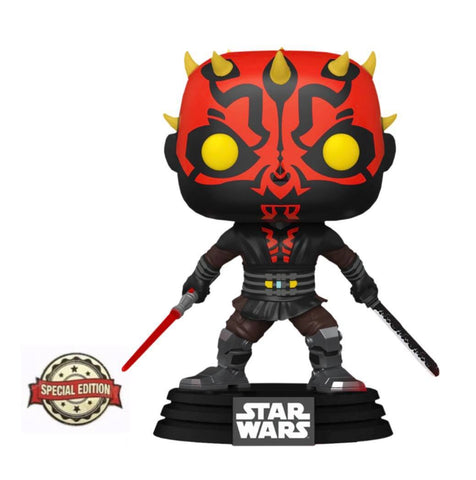 Funko Pop! Star Wars: Clone Wars - Darth Maul w/ Saber (Special Edition)