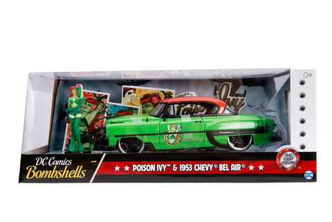 Hollywood Rides 1: 24 Vehicle - 1953 Chevy Bel Air Hard Top w/ Poison Ivy Figure