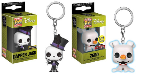 Pop Keychain Set: Disney - NBC - Dapper Jack (IE) and Zero (IE)
