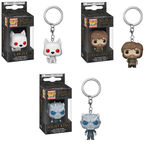 POP Keychain: GOT - S9 - Ghost, Tyrion Lannister & Night King (set)