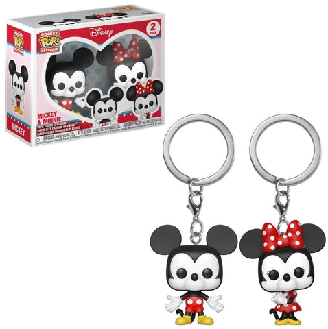 Pop Keychain: Disney - 2-Pack Minnie Mouse and Mickey Mouse Mini