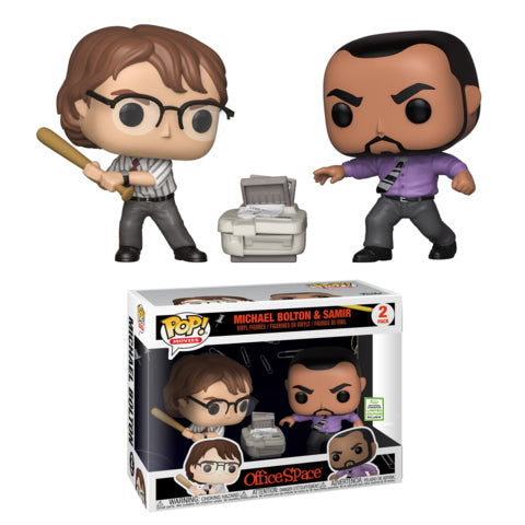 Pop! Movies: 2019 ECCC Office Space Michael Bolton & Samir