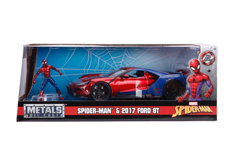 1/24 Hollywood Rides 2017 Ford GT w/ Spiderman figure