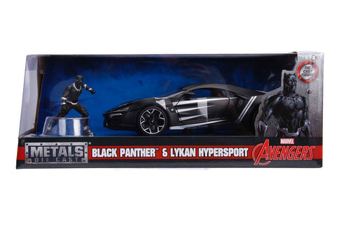 1/24 Hollywood Rides Lykan Hypersport w/ Black Panther figure