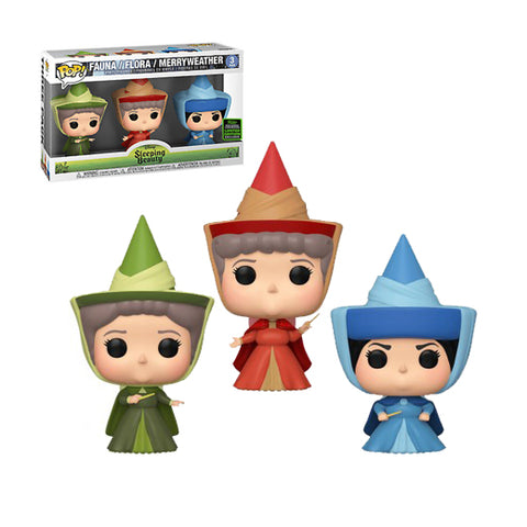 Funko Pop! Disney: 2020 ECCC Funko Shared Exclusive - Sleeping Beauty - 3PK Faunam, Flora & Merry Weather