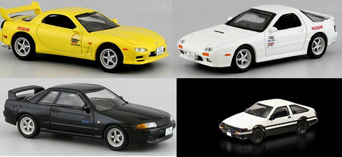 Initial D movie edition 4 cars set