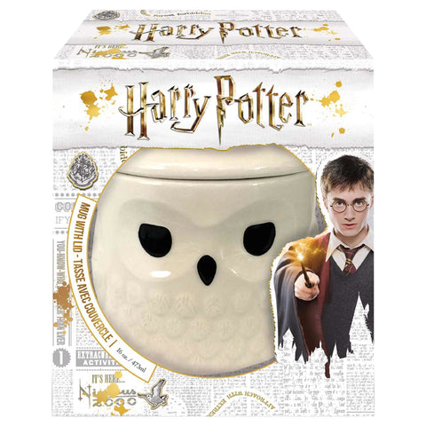 Harry Potter Mug: Hedwig w/ Lid