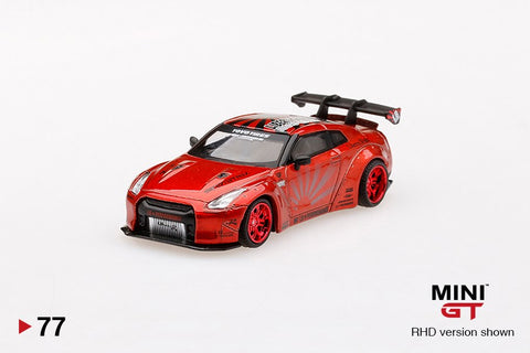 1/64 LB Works Nissan GT-R R35 Type 1 Rear Wing ver 1+2 Candy Red (RHD)