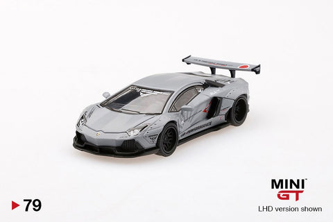 1/64 LB Works Lamborghini Aventador LB-R Fighters Works Matte Grey (LHD)