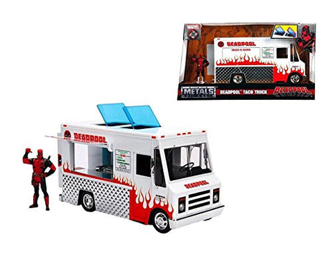 1/24 hollywood Rides Vehicle Food Truck w/ Deadpool figure