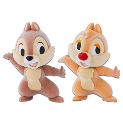 Disney Characters Fluffy Puffy-Chip'n Dale