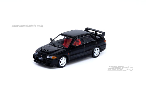 Mitsubishi Lancer GSR Evolution III 1995 Black With Extra Wheels & Extra decals sheet