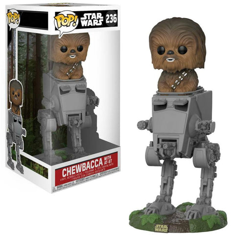 Pop! Deluxe: Star Wars - Chewbacca Bobblehead in AT-ST