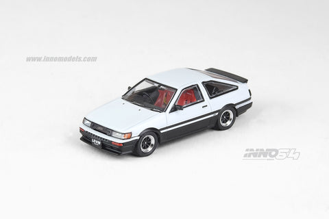 Toyota Corolla Levin AE86 White With Extra Wheels and Carbon Effect Front Bonnet Decal