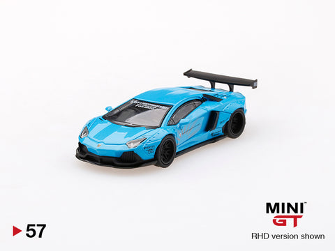 1/64 LB★WORKS Lamborghini Aventador  Light Blue LHD