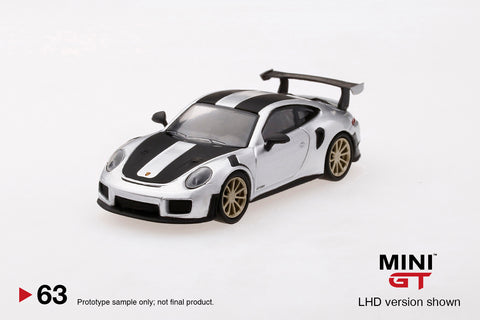 1/64 Porsche 991 Turbo GT2RS GT  Silver Metallic  LHD