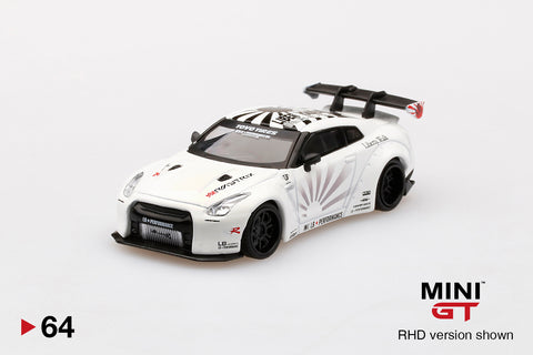 1/64 LB★WORKS Nissan GT-R R35 Type 1 Rear Wing ver 1+2 White  LHD