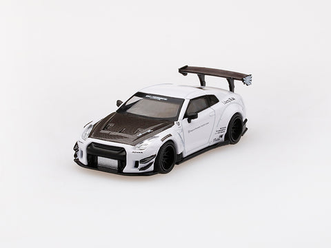 1/64 LB★WORKS Nissan GT-R R35 Type 2 Rear Wing ver 3  White LHD